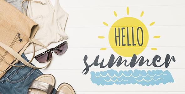 فایل لایه باز موکاپ لوگو فصل تابستان