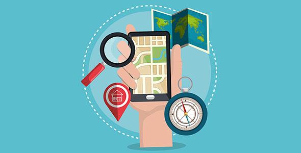 وکتور سیستم لوکیشن و GPS