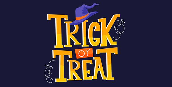 وکتور تصویرسازی متن با تم هالووین