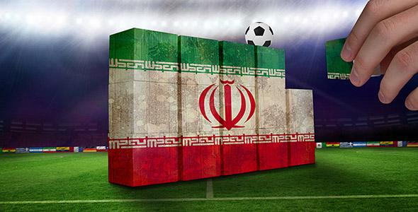 تصویر پرچم ایران با مفهوم دیوار دفاعی