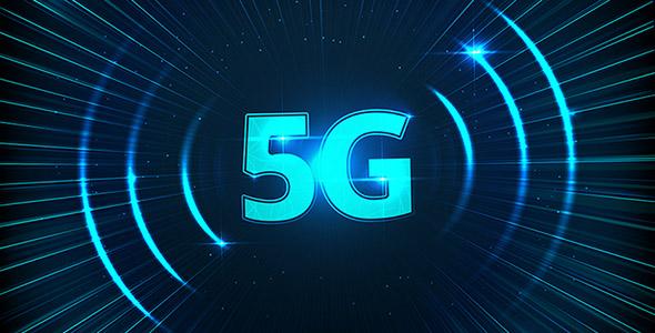 وکتور پس زمینه نورانی با مفهوم اینترنت 5G