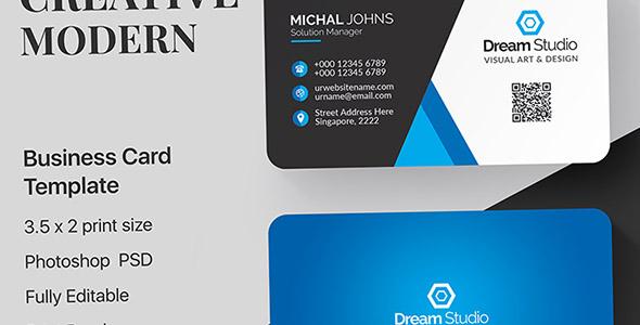 فایل لایه باز طراحی مدرن کارت ویزیت