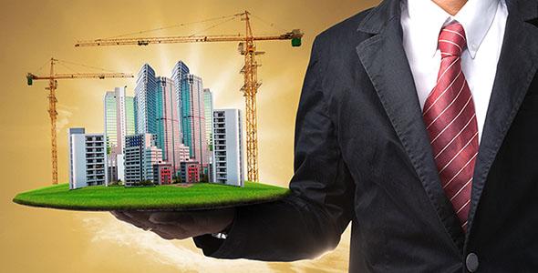 تصویر مرد با مفهوم معماری و ساخت و ساز