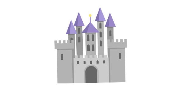 آیکون قلعه و ساختمان