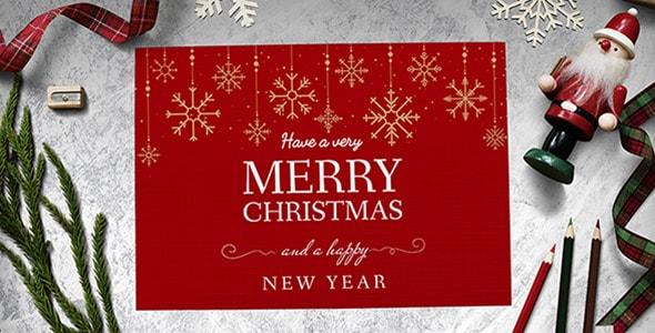 فایل لایه باز موکاپ کارت تبریک کریسمس