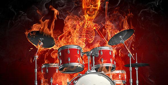 تصویر پس زمینه ساز درام و شعله آتش