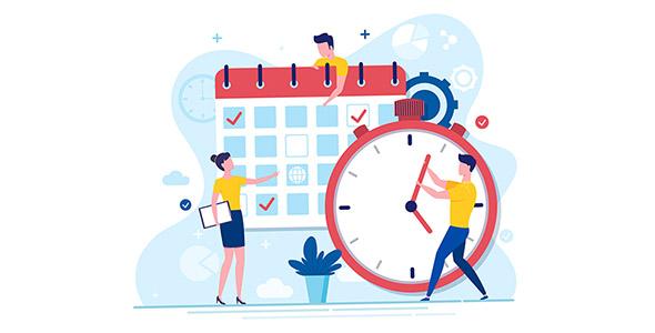وکتور کاراکتر کارتونی با مفهوم مدیریت زمان
