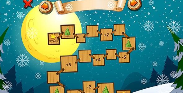 وکتور قالب بازی با تم زمستانی