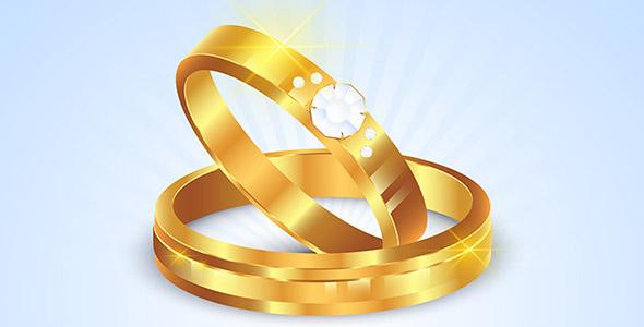 وکتور واقع گرایانه حلقه ازدواج و عروسی