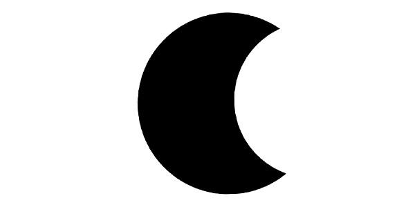 آیکون ماه و شب