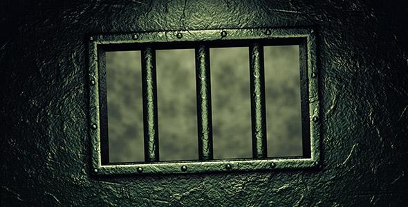 تصویر پس زمینه درب فلزی سلول زندان