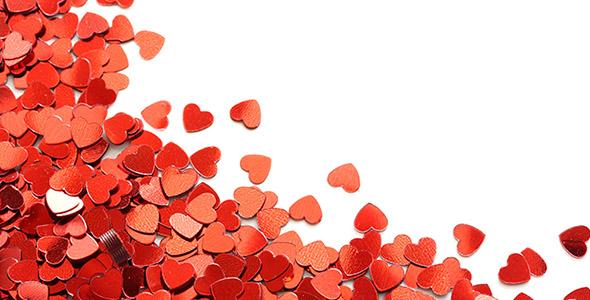 تصویر مجموعه قلب های کوچک قرمز
