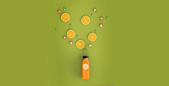 فایل لایه باز نمای بالا اسموتی پرتقال