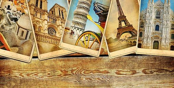 تصویر قدیمی کارت پستال کشورهای اروپایی
