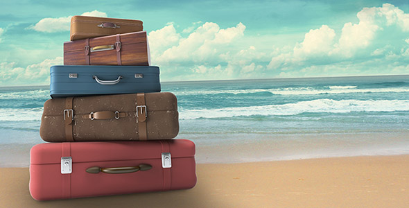 bags-on-beach-travel-concept