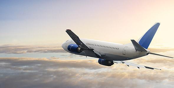 تصویر پس زمینه هواپیما در آسمان