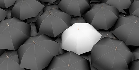 تصویر مجموعه تصویرسازی چتر سه بعدی