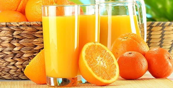 تصویر پس زمینه آب میوه و آب پرتقال
