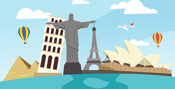 وکتور طراحی فلت روز جهانی گردشگری