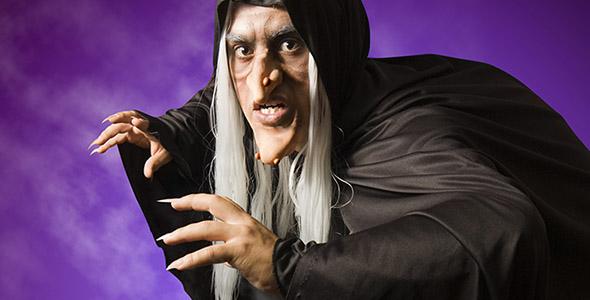 تصویر جادوگر و هالووین