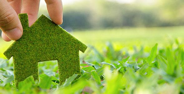 تصویر با مفهوم خانه سازگار با محیط زیست