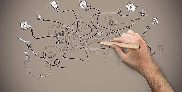 تصویر دست انسان و نگه داشتن مداد