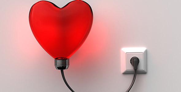 تصویر پس زمینه چراغ خواب و قلب قرمز