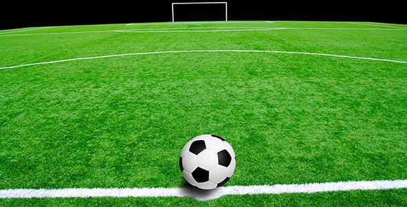 تصویر پس زمینه توپ فوتبال در ورزشگاه