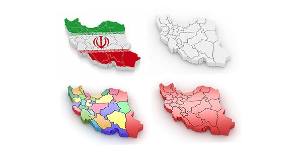 تصویر طراحی سه بعدی نقشه ایران