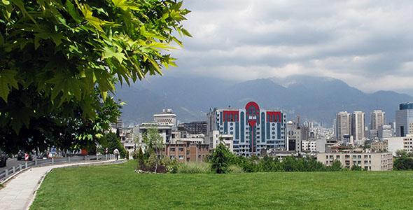 تصویر پس زمینه نمای شهر تهران
