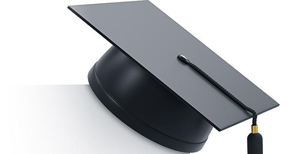 تصویر 3D کلاه فارغ التحصیلی دانشگاه
