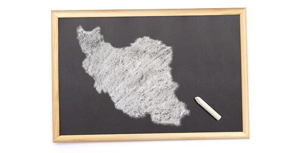 تصویر پس زمینه نقشه ایران روی تخته سیاه