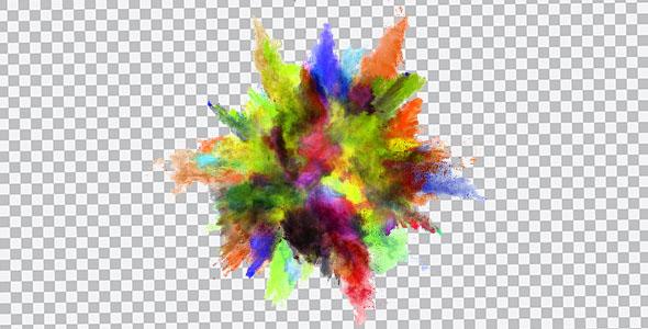 تصویر PNG انفجار پودر رنگی