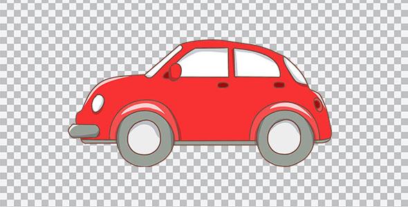 تصویر PNG ماشین قرمز