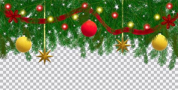 تصویر PNG درخت و عناصر کریسمس