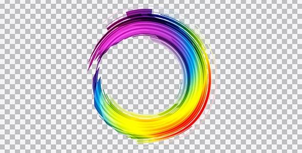 تصویر PNG دایره رنگی گرافیکی