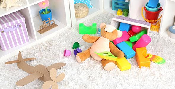 تصویر اتاق بازی کودک و اسباب بازی