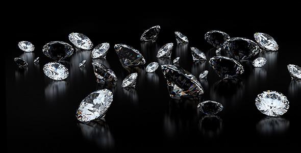تصویر مجموعه الماس در پس زمینه سیاه