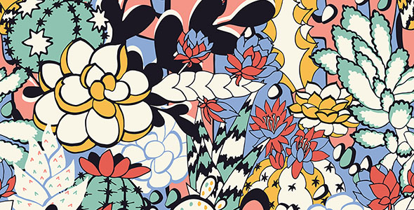 وکتور تصویرسازی تکسچر گل و گیاه