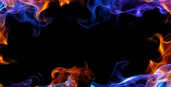 تصویر پس زمینه قاب آتشی