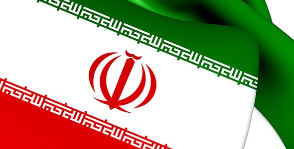 تصویر نمای نزدیک پرچم ایران