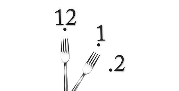 تصویر ساعت با عقربه های چنگال