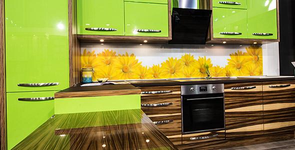 تصویر پس زمینه فضای داخلی آشپزخانه