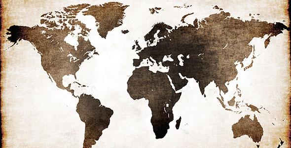 تصویر پس زمینه نقشه و کاغذ قدیمی