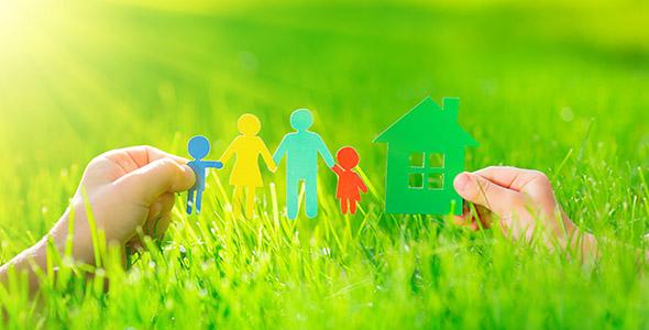 تصویر پس زمینه با مفهوم خانه و خانواده
