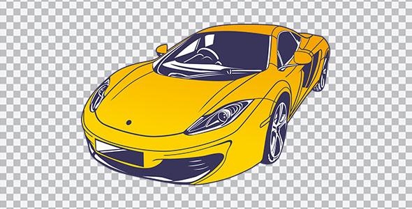 تصویر PNG ماشین اسپرت زرد