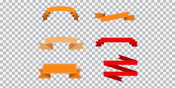 تصویر PNG روبان با طراحی متریال