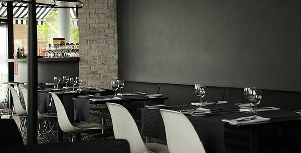 تصویر دکوراسیون و نمای داخلی رستوران