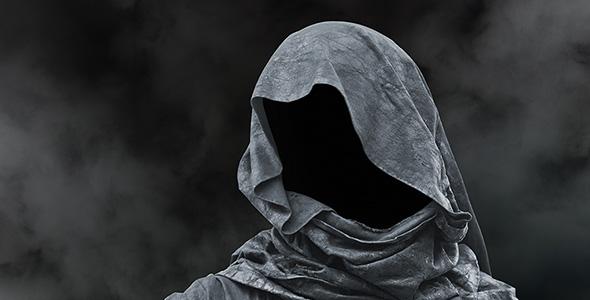 تصویر پس زمینه چهره مرد ترسناک در سایه