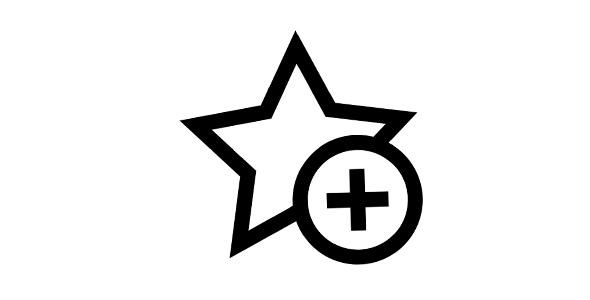 آیکون ستاره و علامت مثبت